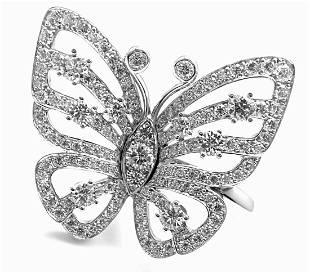 Van Cleef Arpels 18k White Gold Diamond Flying