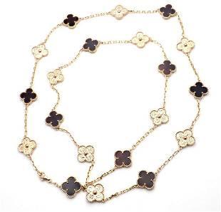 Van Cleef Arpels 18k Rose Gold Limited Alhambra Bois
