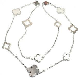 Van Cleef Arpels 18k White Gold Magic Mother Of Pearl