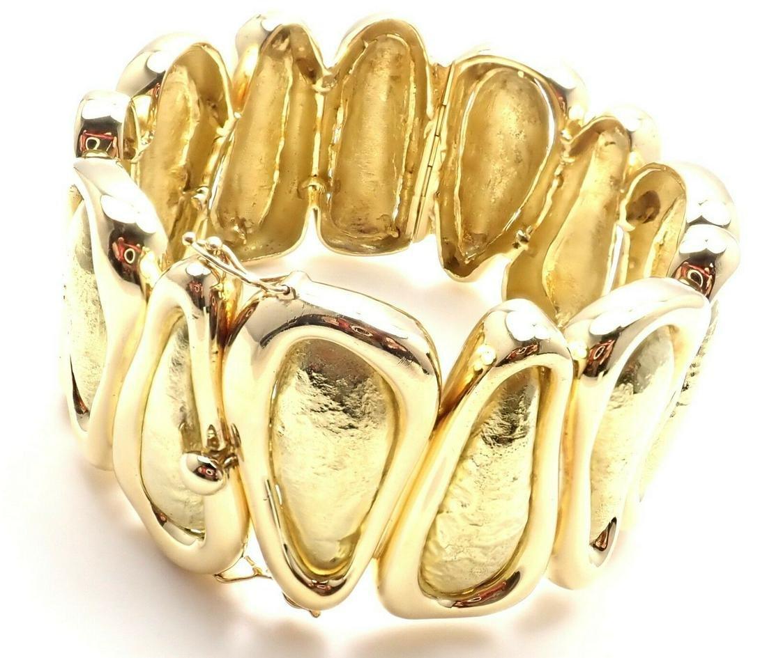 Tiffany & Co 18k Yellow Gold Wide Bangle Bracelet