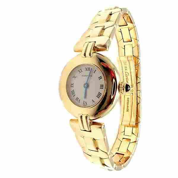 Cartier Paris 18k Yellow Gold Rivoli Ladies Quartz