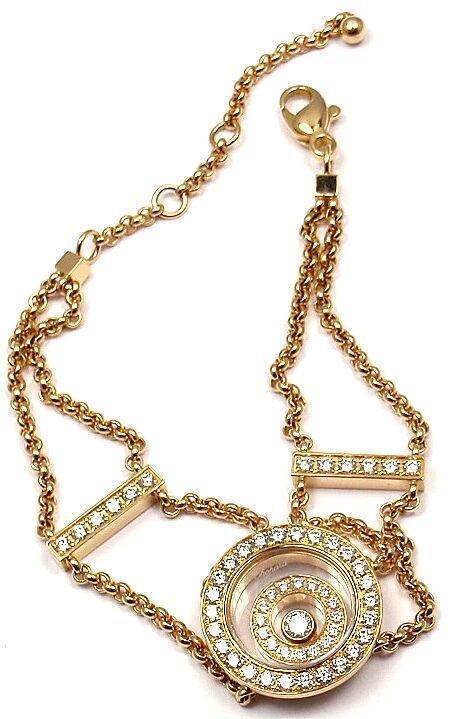 Chopard Happy Spirit Diamond Chain Bracelet Retail