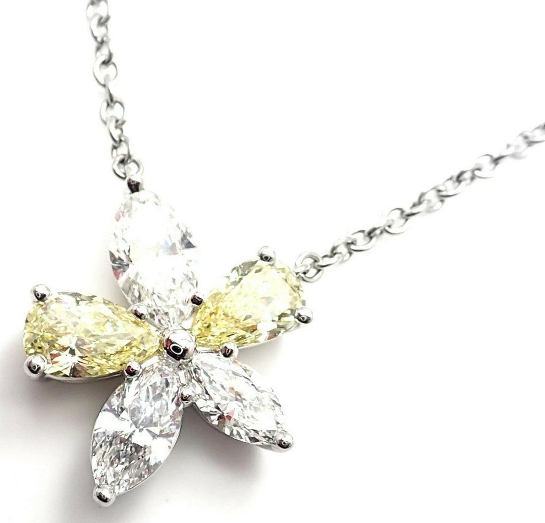 Tiffany & Co Victoria Platinum Yellow & White Diamond