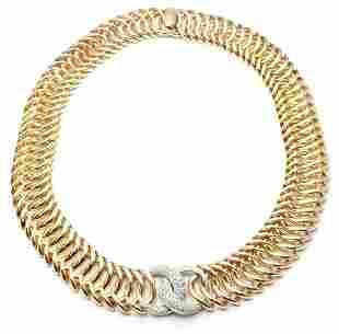 Authentic! Verdura Double Crescent 18k Yellow Gold