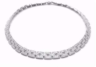 Authentic! Cartier Maillon Panthere 18k White Gold 15ct