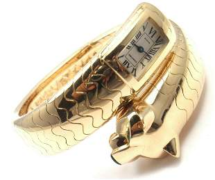 Authentic Cartier Panther Panthere 18k Yellow Gold