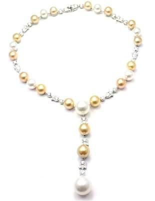 Authentic! Cartier Calin Platinum Diamond Tahitian &