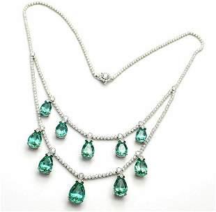 Rare! Authentic Tiffany &Co Platinum Diamond Green
