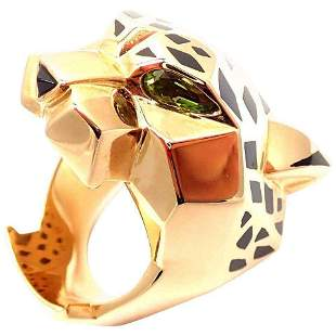 Authentic Cartier Panther Panthere 18k Gold Peridot