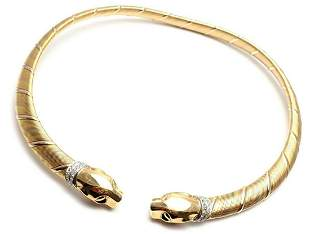 Authentic! Cartier Panther Panthere 18k Tri-Color Gold