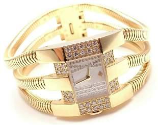 Authentic! Van Cleef & Arpels 18k Gold Diamond Liane