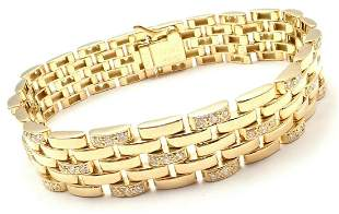 Authentic Cartier Maillon Panthere 18K Gold Diamond