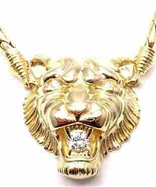 Rare! Authentic Piaget 18k Yellow Gold Diamond Lion