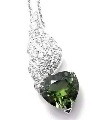 Rare! Authentic Piaget 18k White Gold Diamond Peridot
