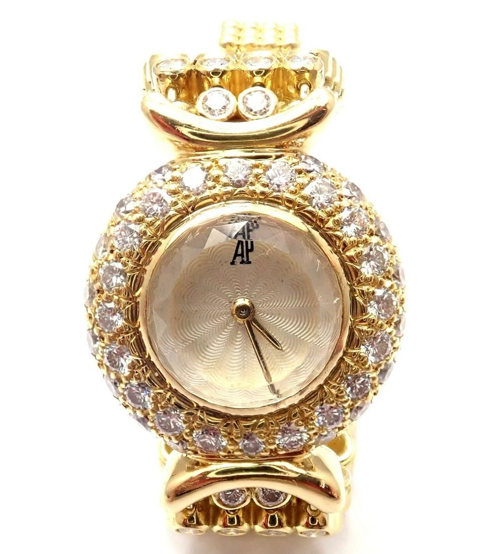 Audemars Piguet 18k Yellow Gold 8ct Diamond Ladies
