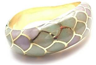 Angela Cummings 18k Gold Purple Green Jade Snakeskin