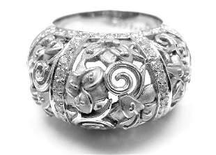 Carrera Y Carrera Taj Mahal 18k White Gold Diamond Ring