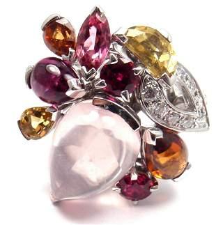 CARTIER Sorbet 18k Gold Diamond Pink Quartz Tourmaline