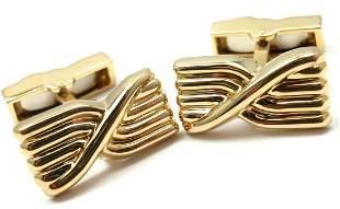 Tiffany & Co 18k Yellow Gold Cufflinks