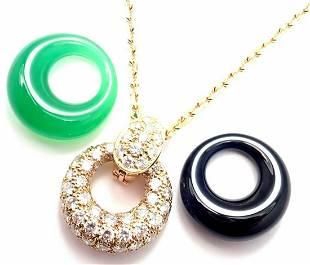Van Cleef & Arpels 18k Gold Diamond Chalcedony Onyx 2