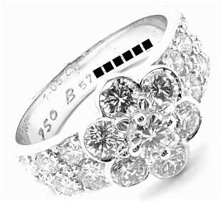 Van Cleef & Arpels 18k White Gold Diamond Fleurette