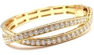 Van Cleef & Arpels 18k Yellow Gold 4ct Diamond Bangle