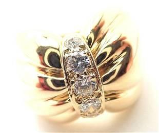Van Cleef & Arpels 18k Yellow Gold Diamond Bow Design