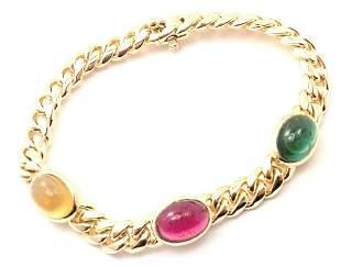Bulgari Bvlgari 18k Yellow Gold Emerald Ruby Sapphire