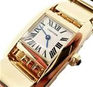 Cartier Paris 18k Yellow Gold Tankissime Ladies Quartz