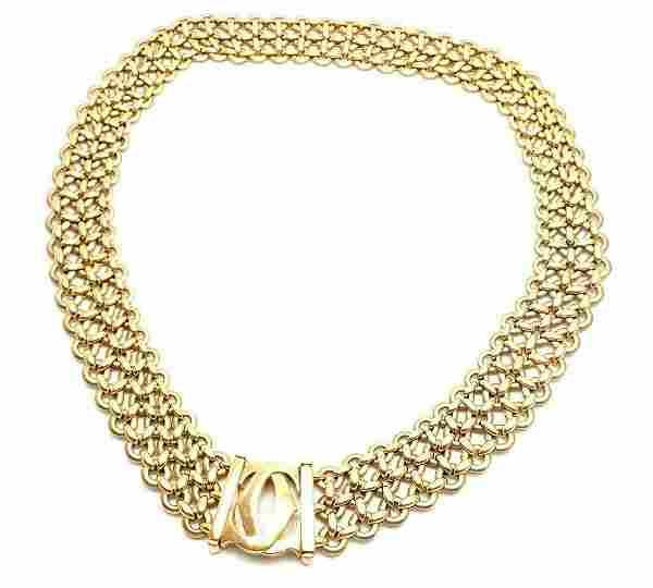 Cartier Penelope 18k Yellow Gold Double C Three Row