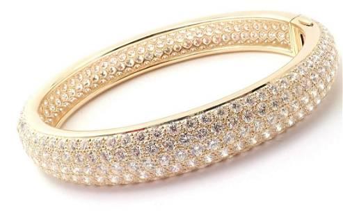 Cartier Etincelle 18k Yellow Gold 20ct Diamond Pave