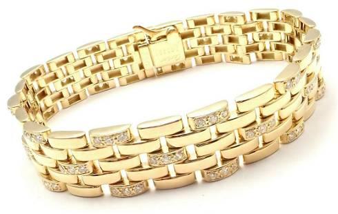 Cartier Maillon Panthere 18K Gold Diamond Five Row Link