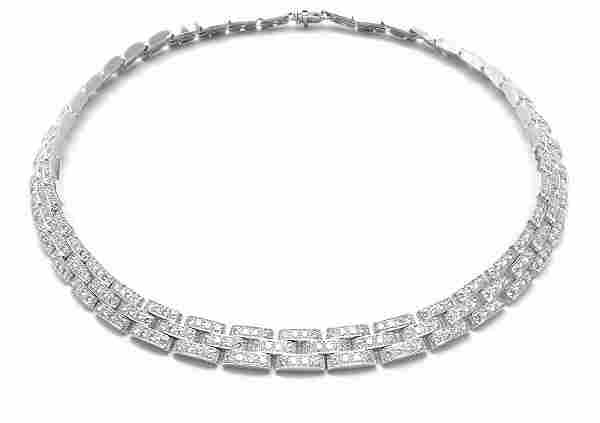 Cartier Maillon Panthere 18k White Gold 15ct Diamond