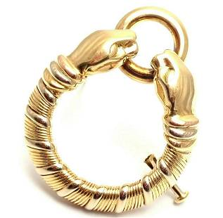 Cartier Panther Panthere 18k Tri-Color Gold Pin Brooch
