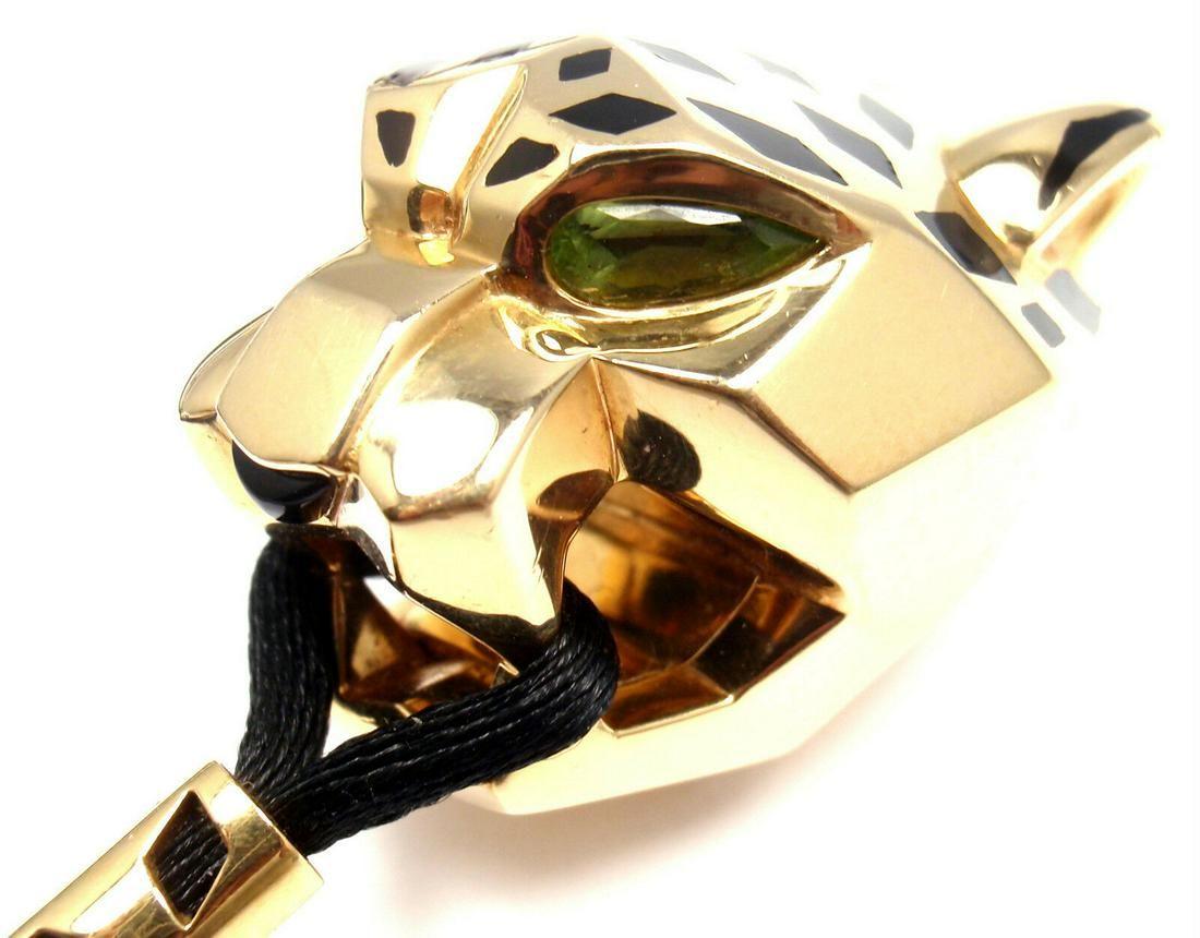 Cartier Panther Panthere 18k Yellow Gold Emerald