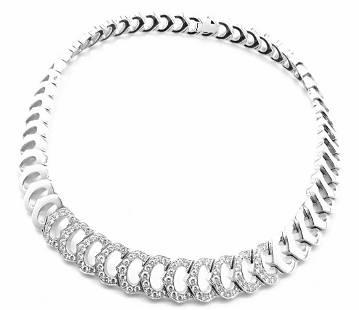 Cartier 18k White Gold C De Cartier Diamond Link