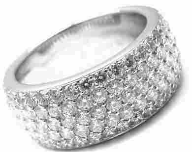 Cartier 18k White Gold Diamond Band Ring Size 53 US 6