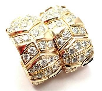 Cartier 18k Yellow Gold 3.5ct Diamond Hoop Earrings