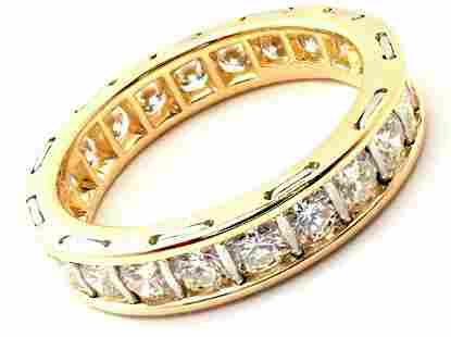 Cartier 18k Yellow Gold Diamond Eternity Band Stack