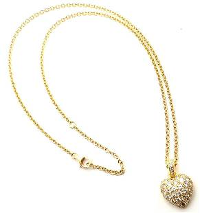 Cartier 18k Yellow Gold Diamond Pavé Large Heart