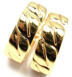 Cartier 18k Yellow Gold La Dona Hoop Earrings