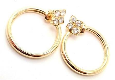 Cartier Hindu 18k Yellow Gold Diamond Floral Design