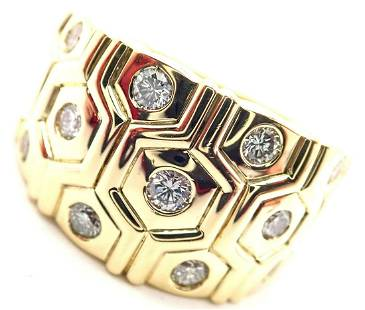 Cartier London 18k Yellow Gold Diamond Beehive Band