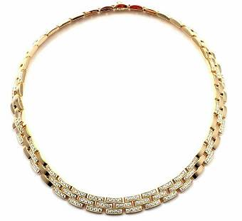 Cartier Maillon Panthere 18k Yellow Gold 7.20ct Diamond