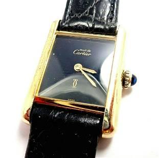 Cartier Must De Silver 925 Argent Vermeil Manual Wind