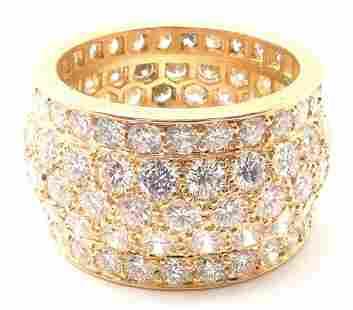 Cartier Nigeria 18k Yellow Gold Diamond Wide Band Ring