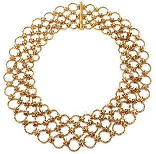 Verdura Lace 18k Yellow Gold Necklace
