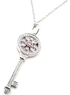 Tiffany & Co. Kaleidoscope Platinum Pink Dia Necklace