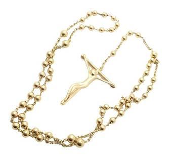Tiffany & Co. Elsa Peretti 18k Religious Cross Necklace