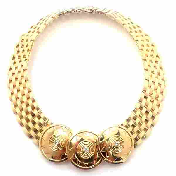 Rare Cartier Maillon Seven-Row 18k Yellow Gold Necklace